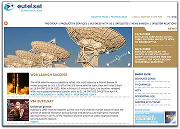 Eutelsat Communications homepage