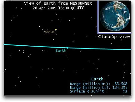 Earth from MESSENGER