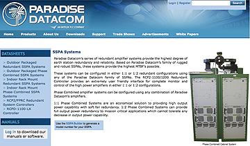Paradise Datacom SSPA webpage