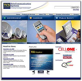 TCS homepage