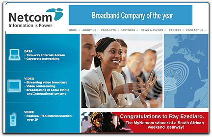 Netcom Africa homepage