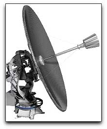 C2SAT 2.4m antenna