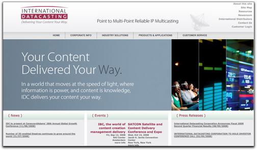 IDC homepage