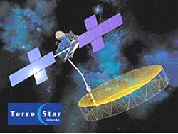 TerreStar logo + Terrestar-1 satellite