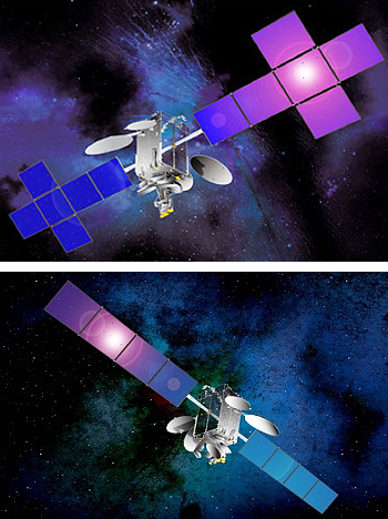 NSS-14 + Sirius 5 satellites