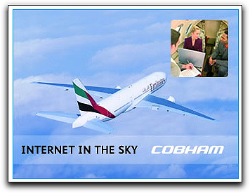 Cobham Internet in the sky graphic