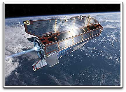 GOCE in orbit (ESA)
