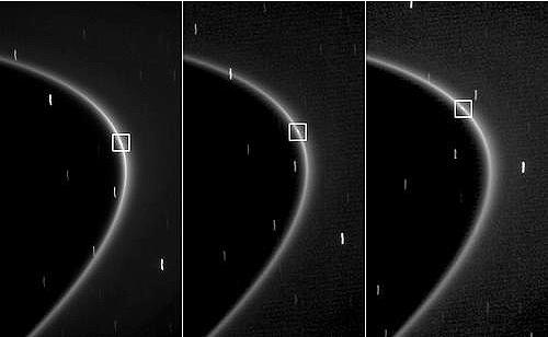 Cassini captures moonlet in Saturn's G Ring