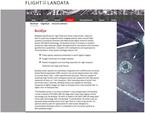 Flight Landata BuckEye page