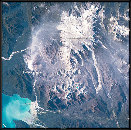 Chilean volcanoes (NASA)