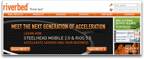 Riverbed Technologies homepage