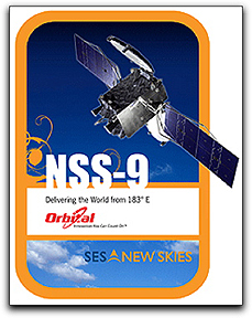 NSS-9 satellite patch