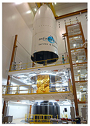 HOT BIRD-9 into Ariane 5 fairing