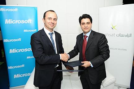 YahSat + Microsoft MOU signing