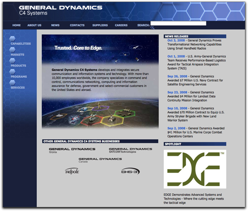 General Dynamics C4 systems homepage