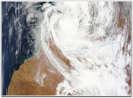 Laurence Cyclone (NASA Terra Australia)