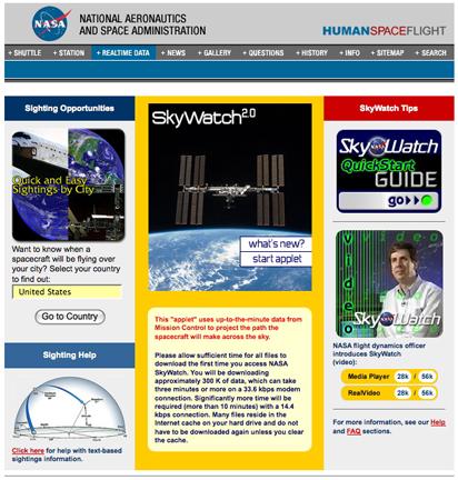 NASA ISS watching guide