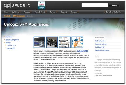 UPLOGIX SRM webpage