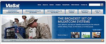 ViaSat homepage (MILSATCOM)