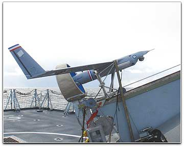 Insitu ScanEagle UAV on deck