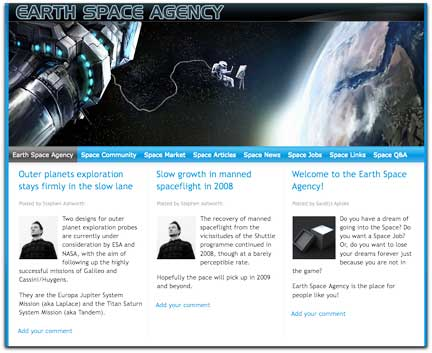 Earth Space Agency homepage