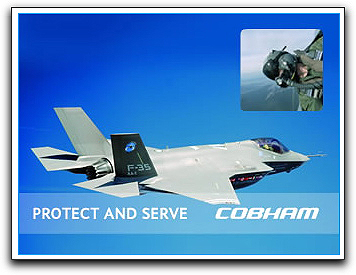 Cobham protect + serve graphic