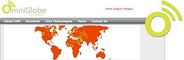 OmniGlobe homepage world view