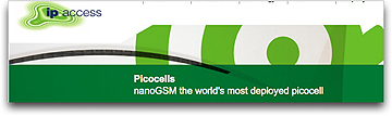 ip access picocell nanoGSM page