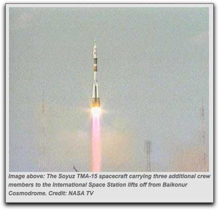Soyuz TMA-15 Expedition 20 launch