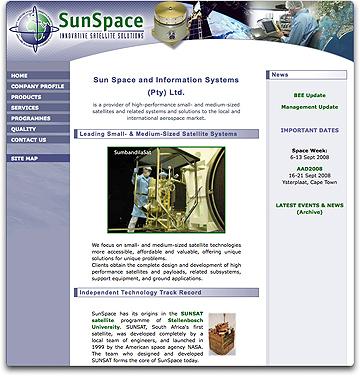 SunSpace homepage