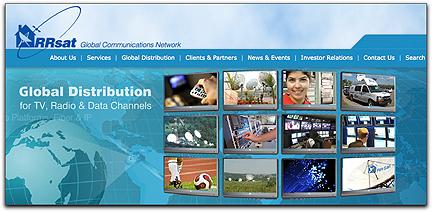 RRsat homepage banner