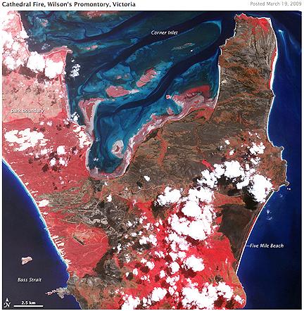 Cathedral Fire Australia (NASA Terra)