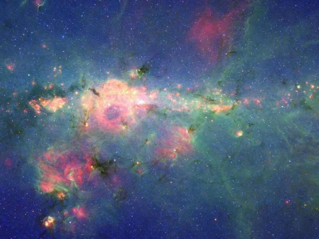 NASA's Spitzer Peony Nebula photo
