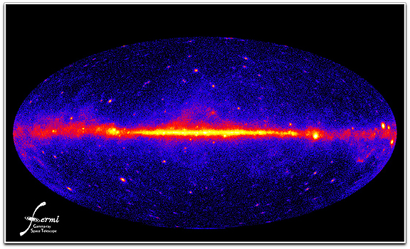 Fermi Gamma ray sky