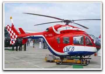 SkyTrac chopper photo