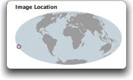 Tonga eruption location