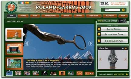 Roland-Garros 2009 homepage