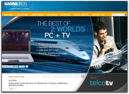 Nagravision homepage