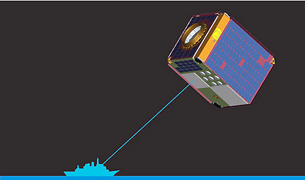 exactEarth nanosatellite graphic