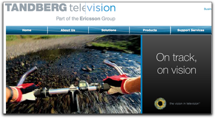 TANDBERG homepage banner