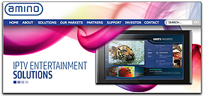 Amino Communications homepage banner
