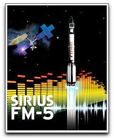 Sirius FM-5 launch poster (ILS)