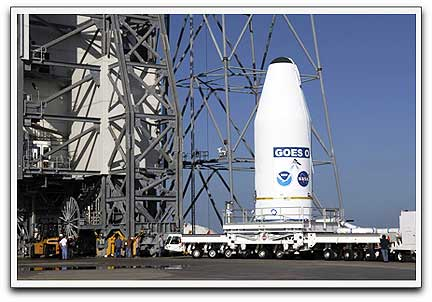 GOES-O transported to launch pad