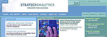Strategy Analytics digital media growth rate report