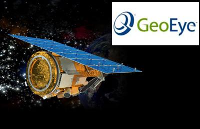 GeoEye logo + GeoEye-1 sat