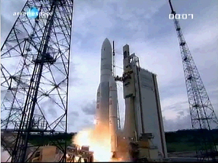 NSS-12 THOR 6 launch by Arianespace