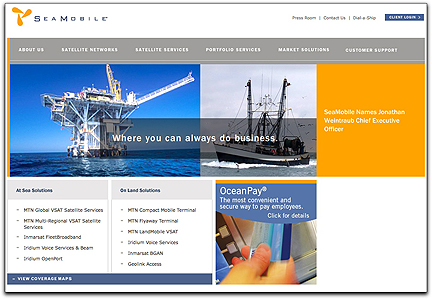 SeaMobile homepage