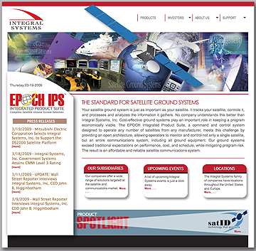 Integral Systems homepage