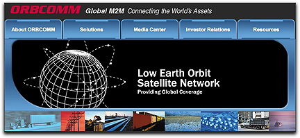 ORBCOMM homepage banner