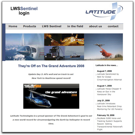 Latitude Technologies homepage